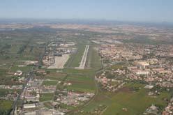 vista aerea dell'aeroporto di Ciampino