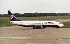 un aeroplano della ryanair