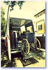 veicolo per il trasporto disabili