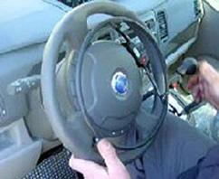 volante di autovettura con cerchiello