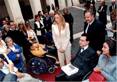 la ministra Prestigiacomo al Fiaba day 2004