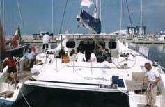 foto del catamarano