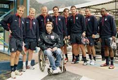 Andrea Stella con Beckham e compagni