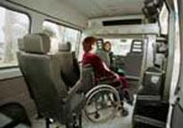veduta interna minibus della trambus