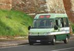 minibus utilizzato dalla trambus