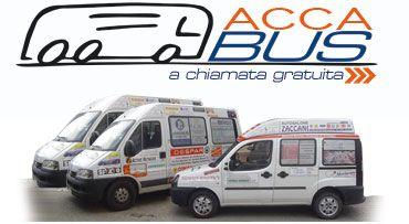 logo del servizio Acca bus e tre pulmini