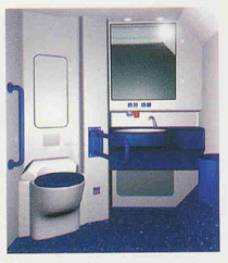 Immagine della toilette accessibile sul Vivalto