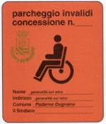 contrassegno invalidi